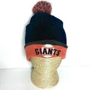 SF Giants Pom Pom Chunky Beanie MLB Genuine Merch